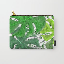 PALM LEAF B0UNTY GREEN AND WHITE Carry-All Pouch