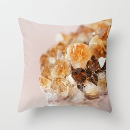 Citrine On Pink Throw Pillow
