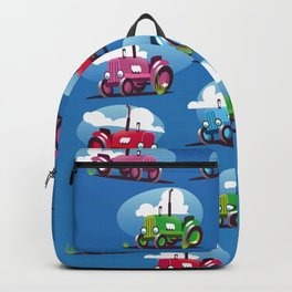Tractors (blue background) Backpack
