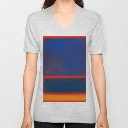 Rothko Inspired #7 Unisex V-Neck