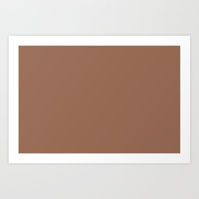Sherwin Williams Trending Colors of 2019 Wheat Penny (Rich Golden Brown) SW  7705 Solid Color Art Print by simplysolids
