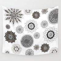 flower pattern Wall Tapestries featuring Flower pattern by Noah's ART