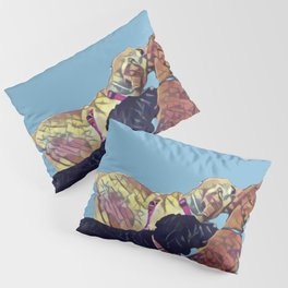 Three Amigos II in aqua Pillow Sham