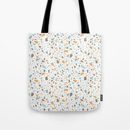 Colorful smooth stones terrazzo pattern Tote Bag