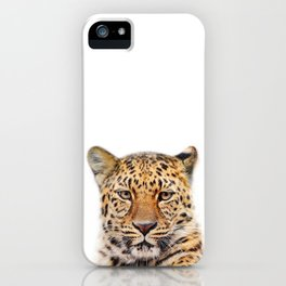 Leopard Animal Art Print by ZouzounioArt iPhone Case