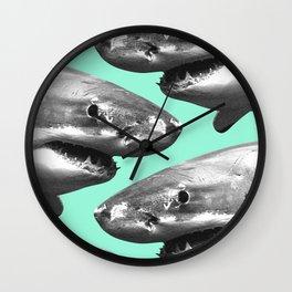 Shark pattern Wall Clock