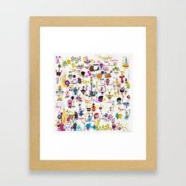 Music world Framed Art Print