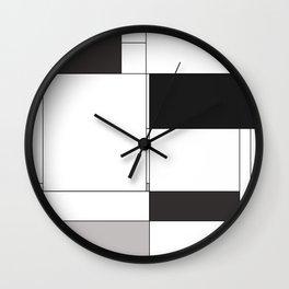 De Stijl Revival in Black Wall Clock