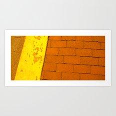 Rusty Sidewalk Art Print