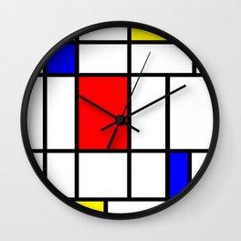 Mondrian #63 Wall Clock