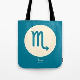 Scorpio Symbol Blue Tote Bag