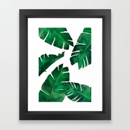 Banana leafs Framed Art Print