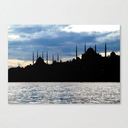 Sultanahmet Camii Skyline Istanbul Turkey Canvas Print