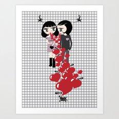 Lady & Lord Valentine's Art Print