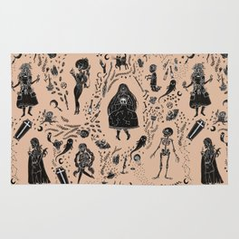 Creatures of the Night (orange) Rug