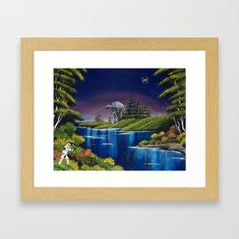 """Blue River Invasion"" Framed Art Print"