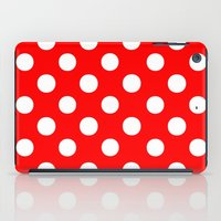 polka iPad Cases featuring Polka Dots (White/Red) by 10813 Apparel