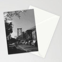 Williamsburg Bridge Black and White Photography Stationery Cards