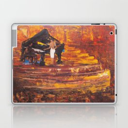 Piano Player with Singer Laptop & iPad Skin
