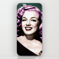 rockabilly iPhone & iPod Skins featuring Rockabilly Marilyn by Tamsin Lucie