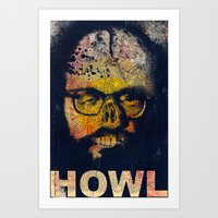 howl Art Prints featuring Howl by Alec Goss