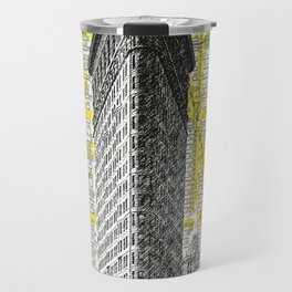 Flatiron Building - NYC Map Background Landmark urban city decor Travel Mug