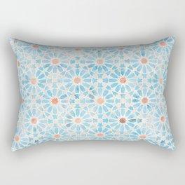 Hara Tiles Light Blue Rectangular Pillow
