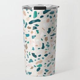 Terrazzo Turquoise Pattern Travel Mug