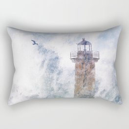 Storm in the lighthouse Rectangular Pillow