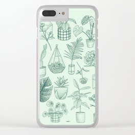 PLANTS LOVER Clear iPhone Case