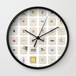 Junk in Your Trunk Tuesdays: 52 Weeks of Junk Drawer Watercolor Paintings Wall Clock