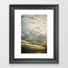 Impression clouds Framed Art Print