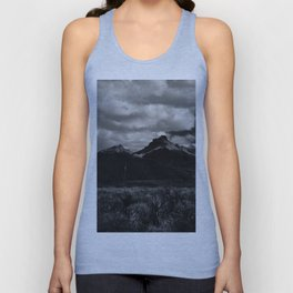 Dramatic Clouds over Mountain Range in Big Bend Unisex Tank Top