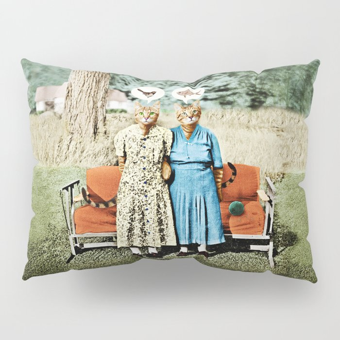 Two Cool Kitties: What's for Lunch? Pillow Sham