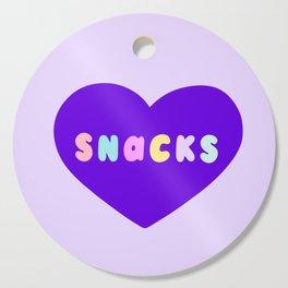 Love Snacks in Lilac Cutting Board
