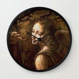 "Leonardo da Vinci ""The Virgin of the Rocks (London)"" Angel Wall Clock"