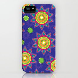 Moroccan Flower Purple iPhone Case