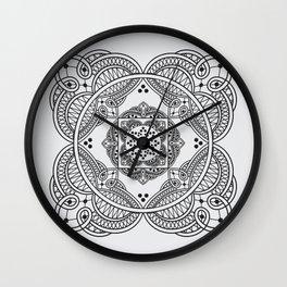 elegant meditation mandala Wall Clock