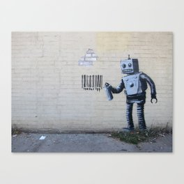 Banksy Robot (Coney Island, NYC) Canvas Print