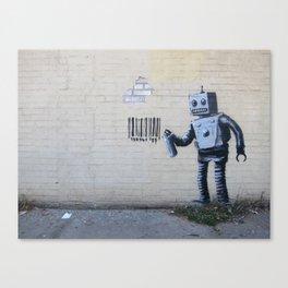 Banksy Robot (Coney Island, NYC) Canvas Print