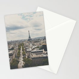 Paris from atop the Arc de Triomphe ... Stationery Cards