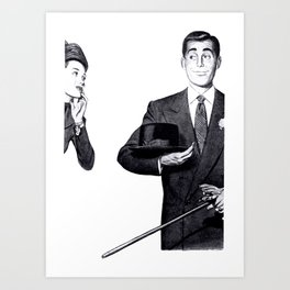 The Gentleman and the PinUp Art Print