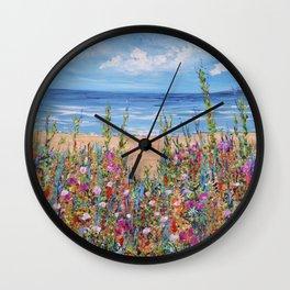 Summer Beach, Impressionism Seascape Wall Clock