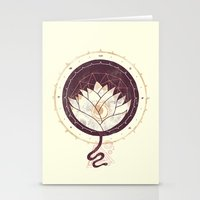lotus Stationery Cards featuring Lotus by Hector Mansilla