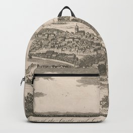 Vintage Pictorial Map of Edinburgh Scotland (1760) Backpack