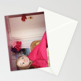 The monster behind the door Stationery Cards