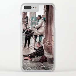 Floating Man Clear iPhone Case