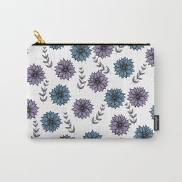 Lavender Lily Floral Print Carry-All Pouch