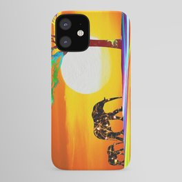 African Elephant with Baby iPhone Case
