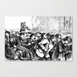Tompkins Square Riot of 1874 Canvas Print